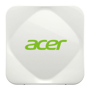 Acer Air Monitor: Air quality is unhealthy.